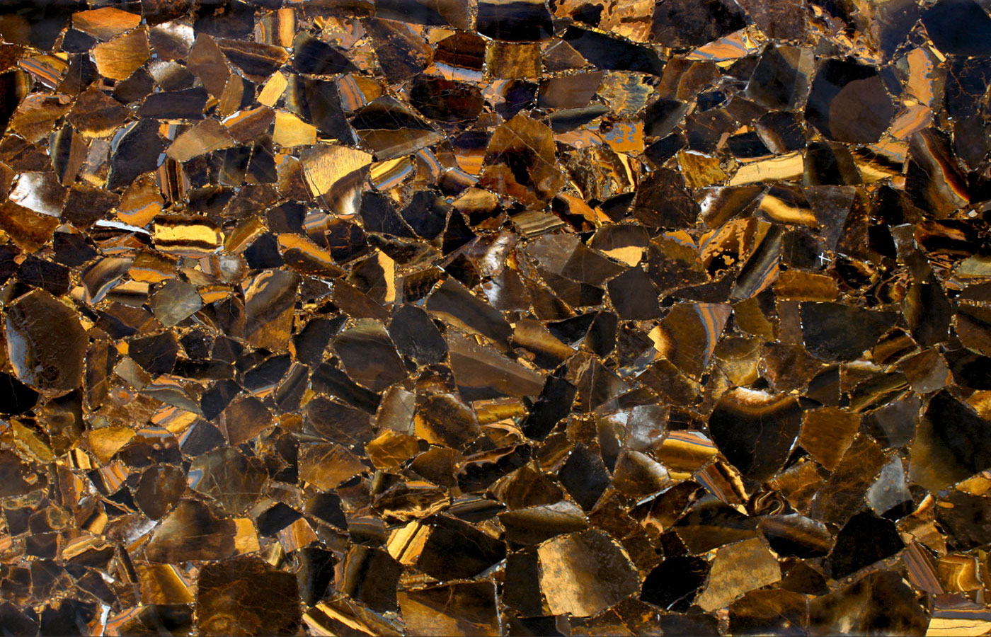 111 Wild Tiger Eye Gold Aeon Stone Tile Granite
