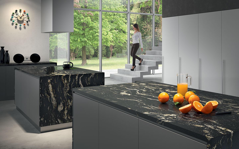 Macca Black Leather Aeon Stone Tile Granite Marble Limestone